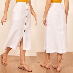 New Reformation Highland Midi Skirt